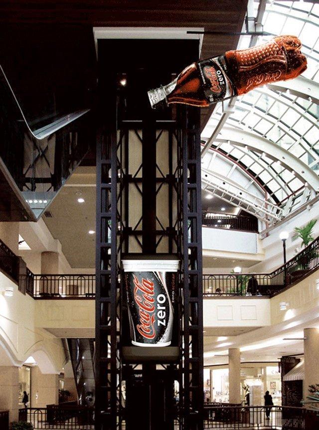 Coca Cola Zero Top 27 Creative Elevator Advertisements