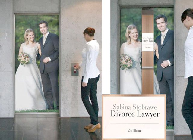 Divorce Lawyer Top 27 Creative Elevator Advertisements
