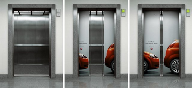 Fiat Punto Parking Sensors Top 27 Creative Elevator Advertisements