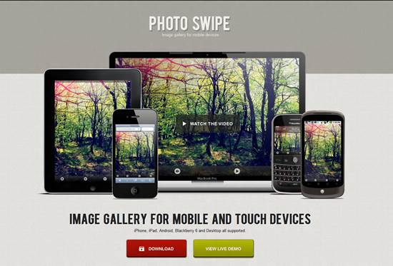 PhotoSwipe - Image gallery for mobile and tablets devices