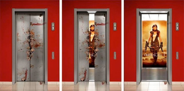 Resident Evil Top 27 Creative Elevator Advertisements