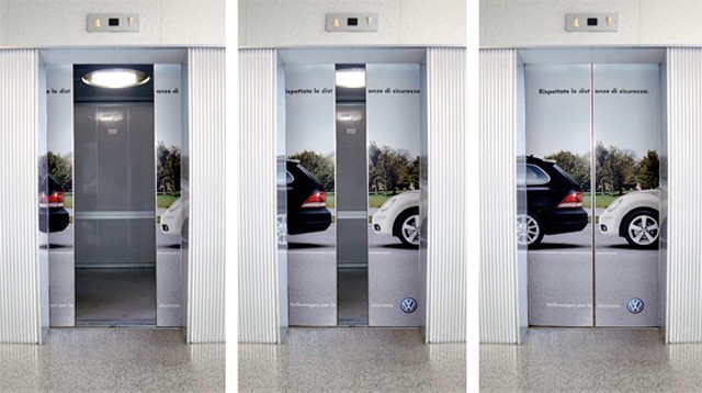 Volkwagen for Safety Top 27 Creative Elevator Advertisements