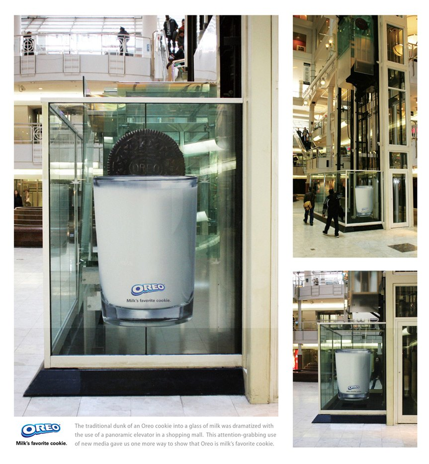 oreoelevator1 Top 27 Creative Elevator Advertisements